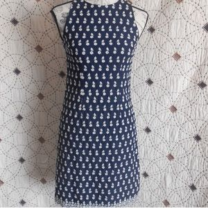 Ann Taylor sheath shift daisy dress